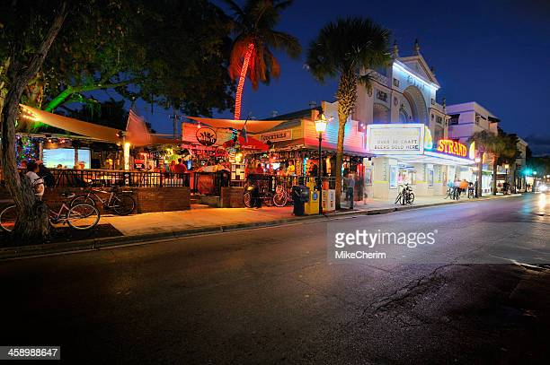 key west: willie t's and duval street - key west stock photos and pictures