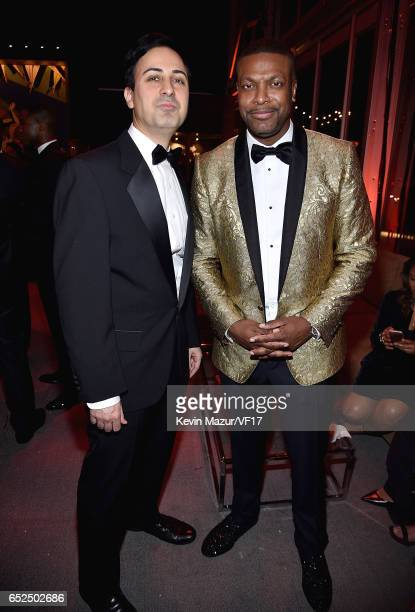 Keya Morgan and Chris Tucker attends the 2017 Vanity Fair Oscar Party hosted by Graydon Carter at Wallis Annenberg Center for the Performing Arts on...