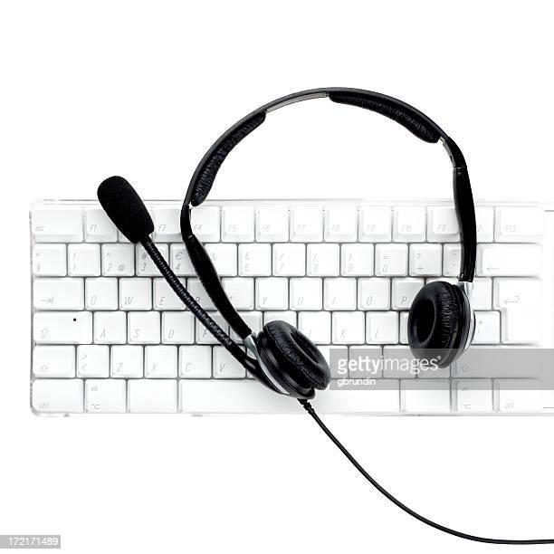 Keyboard and headset