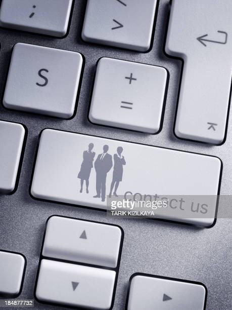 keyboard message contact us - contact us stock pictures, royalty-free photos & images