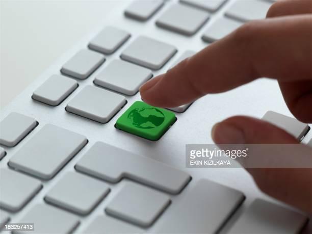 Tastatur Nachricht, Grüne Erde