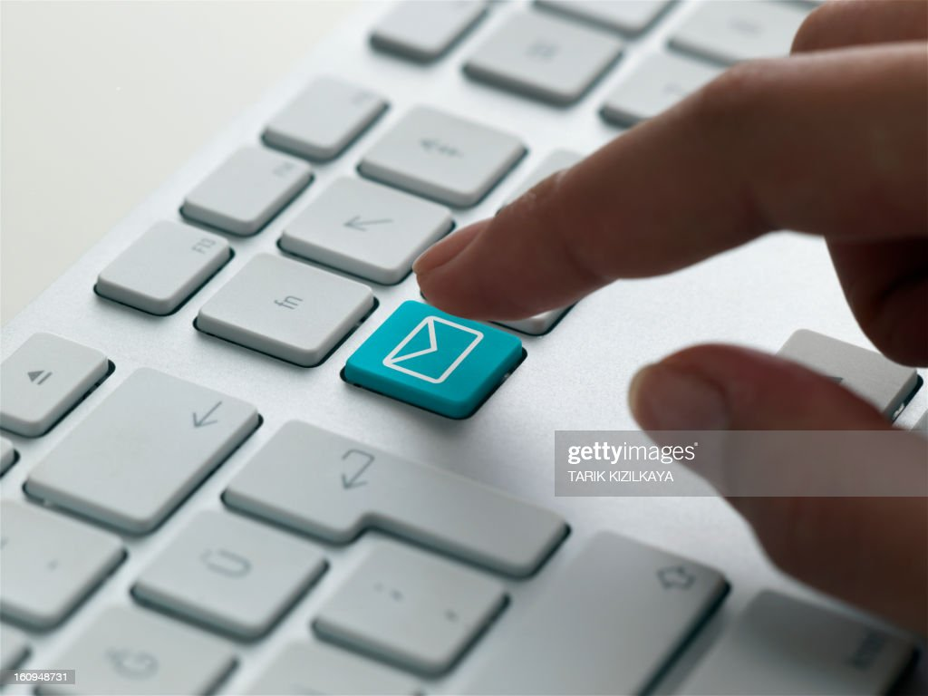 keyboard message, mail : Stock Photo