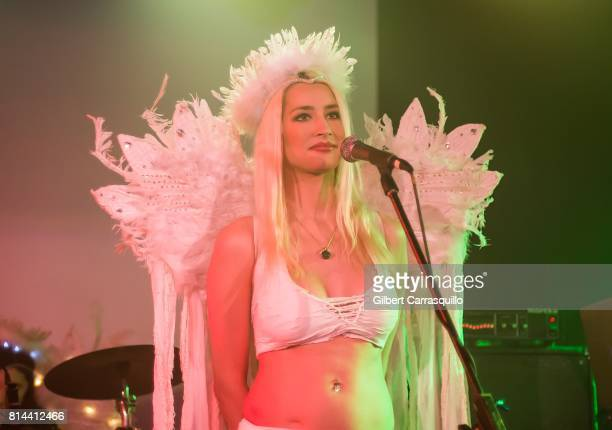 Keyboard player Courtney Anne Feldman of Corey Feldman And The Angels performs during 'Corey's Heavenly Tour Angelic 2 The US' at Underground Arts on...