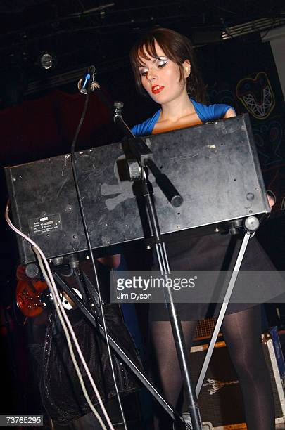 Keyboard player Elena Poulou of The Fall performs at the Hammersmith Palais on April 1 2007 in London This was the last scheduled concert at the...