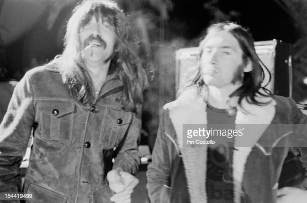 Keyboard player Jon Lord at the California Jam rock festival, where he performed with English rock group Deep Purple, Ontario Motor Speedway,...