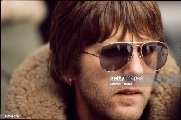 Keyboard player Keith Emerson, of English progressive rock group Emerson, Lake and Palmer, during rehearsals for the band's 'Works' tour, at the...