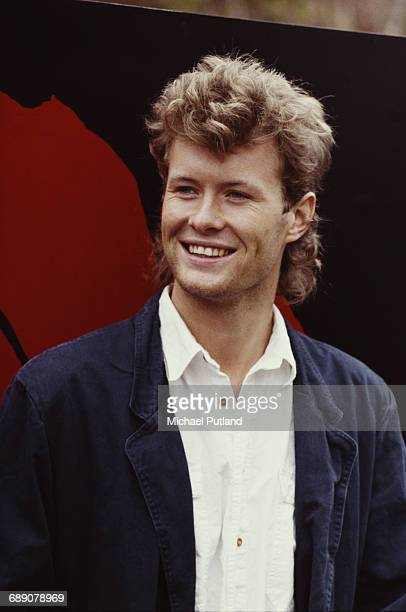 Keyboard player Mags Furuholmen of Norwegian pop group Aha at a shoot to promote the James Bond film 'The Living Daylights' for which the group...