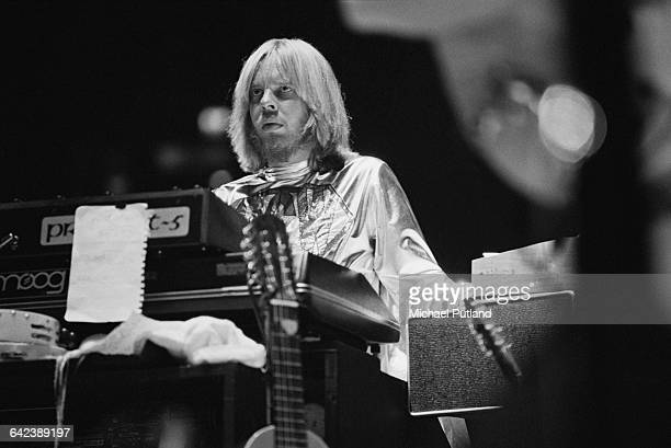 Keyboard player Rick Wakeman performing with English progressive rock group Yes at Madison Square Garden New York City September 1978 The band played...