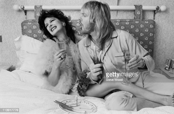 Keyboard player Rick Wakeman with his wife Nina Carter 8th November 1984