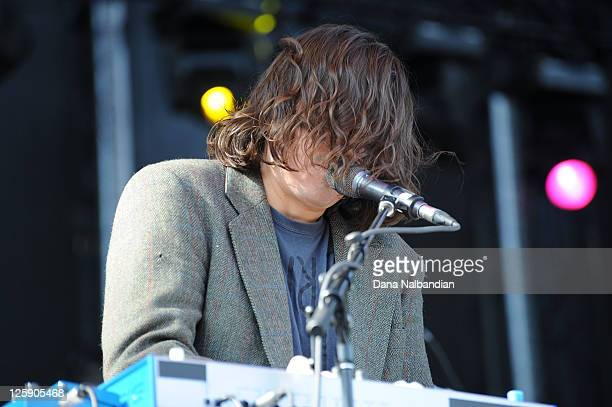 Keyboard player Spencer Krug of Wolf Parade performs at the Sasquatch Festival at The Gorge on May 28 2011 in George Washington