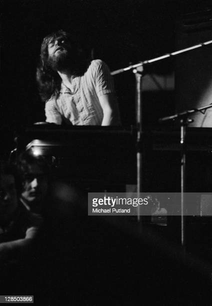 Keyboard player Tony Kaye of Yes performs on stage at the Camden Festival The Roundhouse London 25th April 1971
