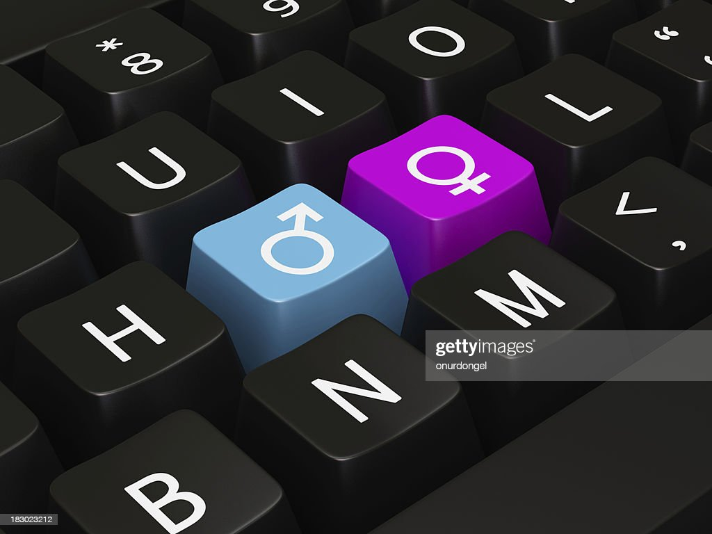 Keyboard With Hot Keys For Gender Symbol Stock Photo Getty Images