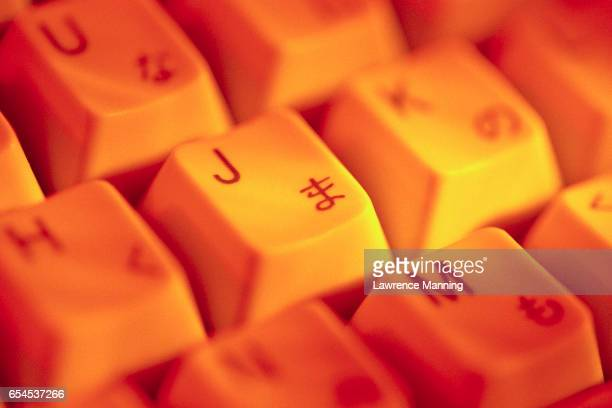 Keyboard with Letters and Japanese Characters
