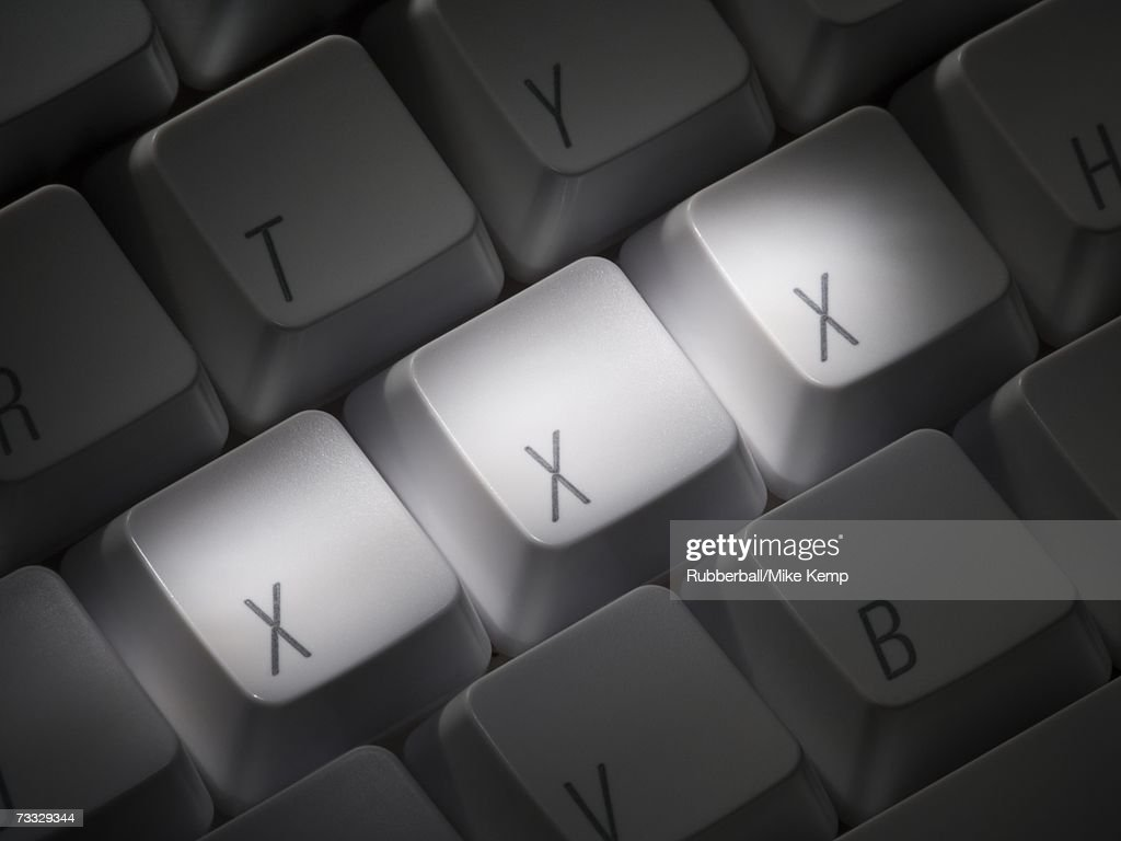 Keyboard with XXX highlighted : Photo