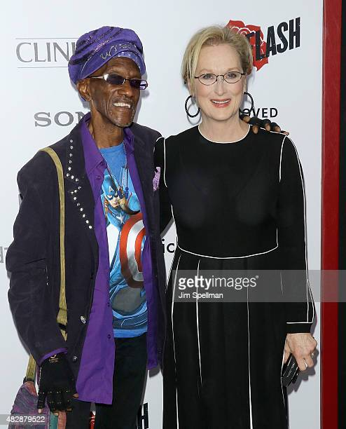 Keyboardist Bernie Worrell and actress Meryl Streep attend the 'Ricki And The Flash' New York premiere at AMC Lincoln Square Theater on August 3 2015...