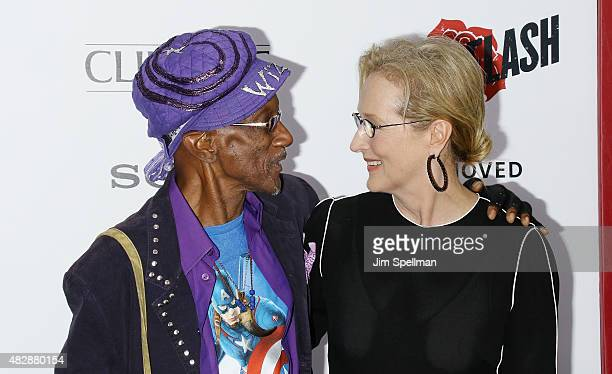 Keyboardist Bernie Worrell and actress Meryl Streep attend the Ricki And The Flash New York premiere at AMC Lincoln Square Theater on August 3 2015...