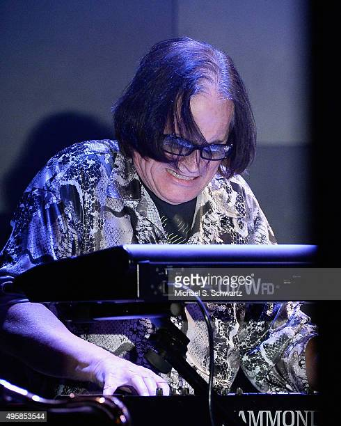 Keyboardist Chris North of Ambrosia performs during his appearance at the weSpark Cancer Support Center Benefit Concert 'An Evening with Michael...