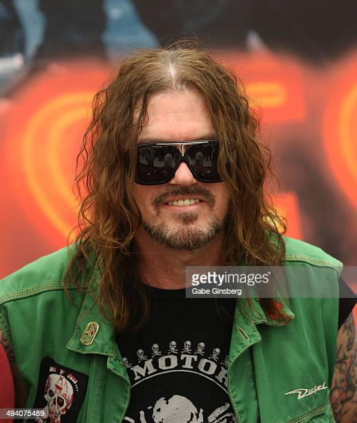 Keyboardist Dizzy Reed of Guns N' Roses attends a meetandgreet at Nellis Air Force Base on May 27 2014 in Las Vegas Nevada