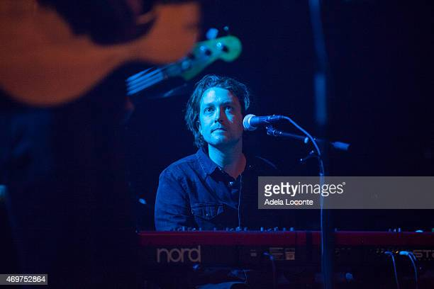 Keyboardist from Greg Holden's Band performs at Webster Hall on April 14 2015 in New York City