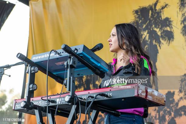 Keyboardist Jackie Miclau of Mt Joy performs live during Ohana Festival at Doheny State Beach on September 29 2019 in Dana Point California
