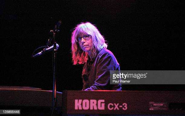 Keyboardist Karen Grotberg performs with the Jayhawks at the Vic Theatre on January 27 2011 in Chicago Illinois