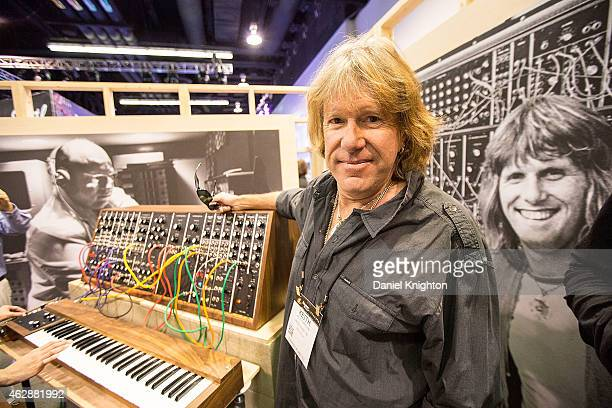 Keyboardist Keith Emerson of Emerson, Lake & Palmer appears at the Moog booth on January 23, 2015 in Anaheim, California.