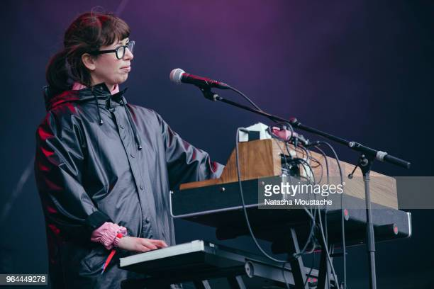 Keyboardist Kerri MacLellan of Alvvays performs onstage during day 3 of 2018 Boston Calling Music Festival at Harvard Athletic Complex on May 27 2018...