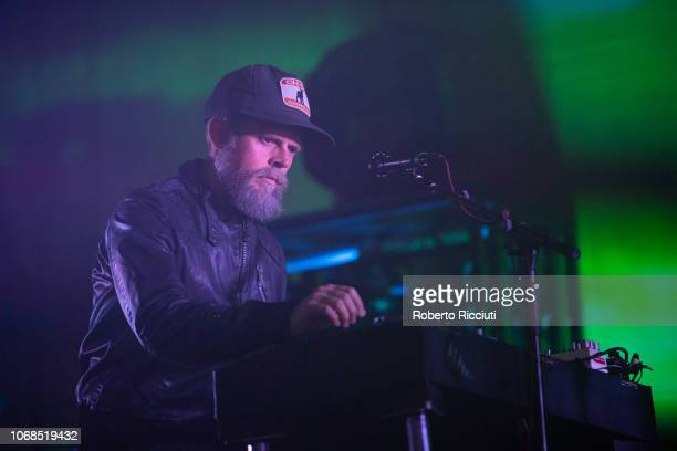 Keyboardist Lars-Olof Johansson of The Cardigans performs on stage at O2 Academy Glasgow on December 4, 2018 in Glasgow, Scotland.