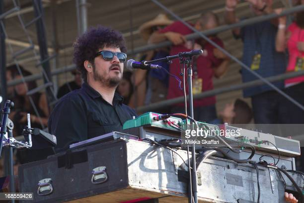Keyboardist Richard Swift of The Shins performs on day 2 of Bottle Rock Napa Valley Festival at Napa Valley Expo on May 10 2013 in Napa California