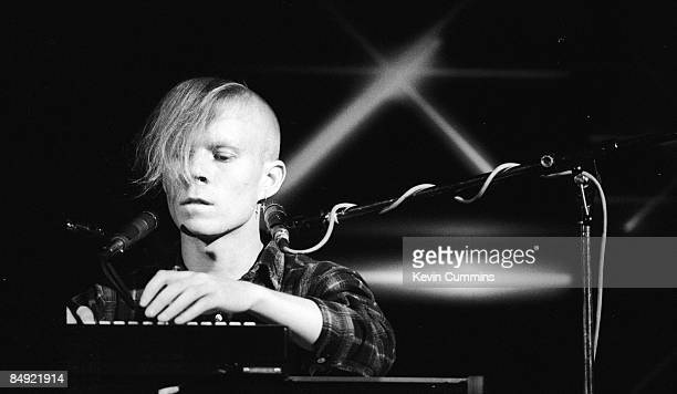 Keyboardist Vince Clarke, of English synthpop duo Yazoo, on stage at the Hacienda, Manchester, 20th September 1982.