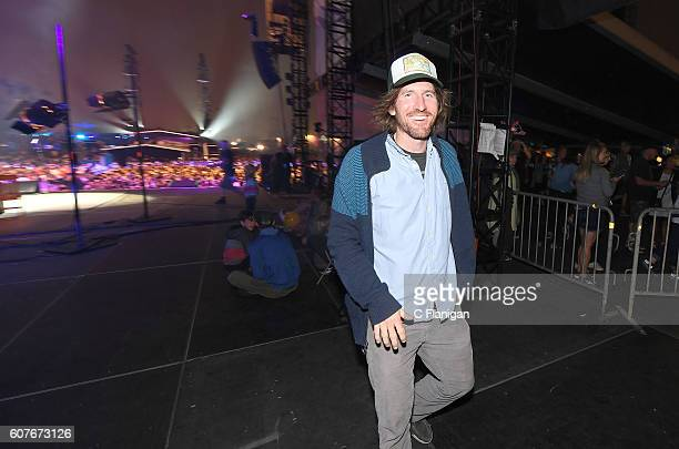 Keyboardist Zach Gill exits the stage after the Jack Johnson set on the Sunset Cliffs Stage during the 2016 KAABOO Del Mar at the Del Mar Racetrack...