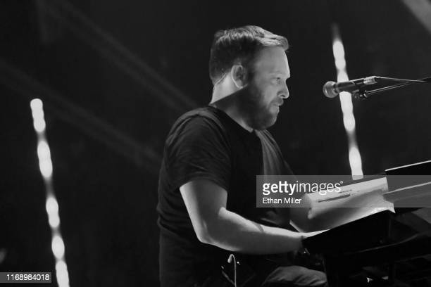 Keyboardist/guitarist Barry Burns of Mogwai performs during Psycho Las Vegas at the Mandalay Bay Events Center on August 18 2019 in Las Vegas Nevada