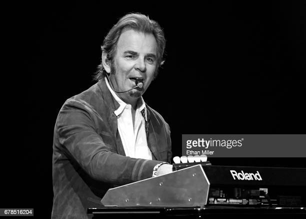 Keyboardist/guitarist Jonathan Cain of Journey performs during the first night of the band's second nineshow residency at The Joint inside the Hard...