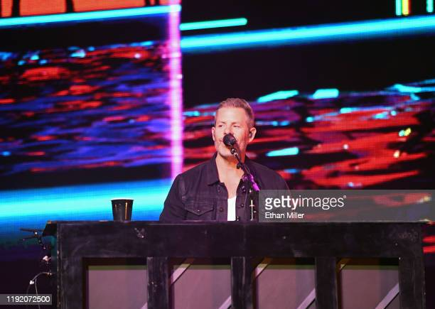 Keyboardist/guitarist Trevor Rosen of Old Dominion performs during a stop of the band's Make It Sweet Tour at The Joint inside the Hard Rock Hotel...