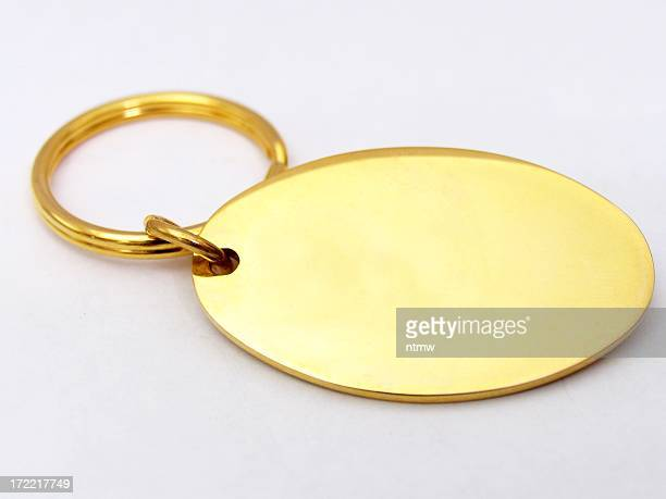 keychain - blank - oval shaped objects stock pictures, royalty-free photos & images