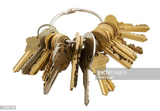 Keychain with many keys
