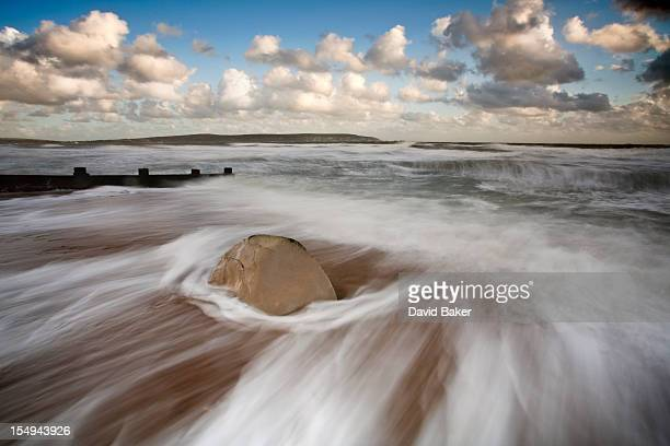 keyhaven beach - keyhaven stock photos and pictures