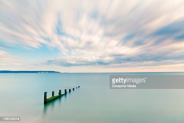 keyhaven groyne - keyhaven stock photos and pictures