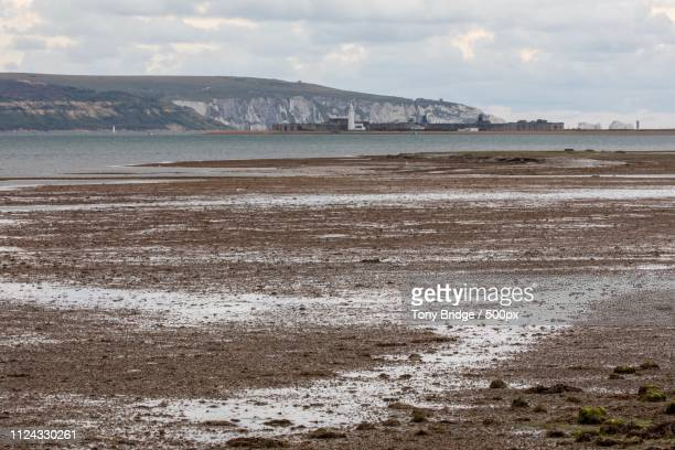keyhaven marshes - keyhaven stock photos and pictures