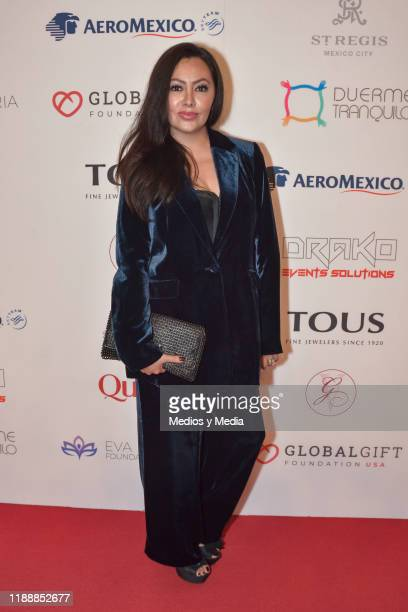 Keyla Wood poses for photos during a red carpet of the The Global Gift Foundation gala at Hotel St Regis on November 19 2019 in Mexico City Mexico