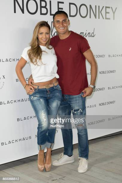 Keylor Navas and Andrea Salas photocall attends the presentation of NOBLE DONKEY in Madrid Spain September 28 2017