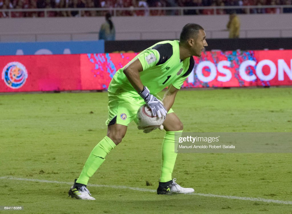 Keylor Navas goalkeeper of Costa Rica in action during the match between Costa Rica and Panama as part of the FIFA 2018 World Cup Qualifiers at Estadio Nacional on June 08, 2017 in San Jose, Costa Rica.