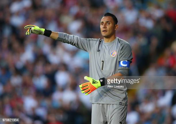 Keylor Navas of Costa Rica during the International friendly match between England and Costa Rica at Elland Road on June 7 2018 in Leeds England