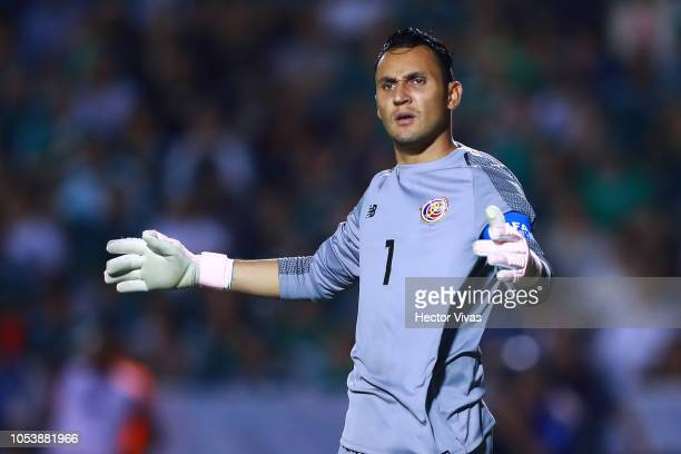 Keylor Navas of Costa Rica looks on during the international friendly match between Mexico and Costa Rica at Universitario Stadium on October 11 2018...