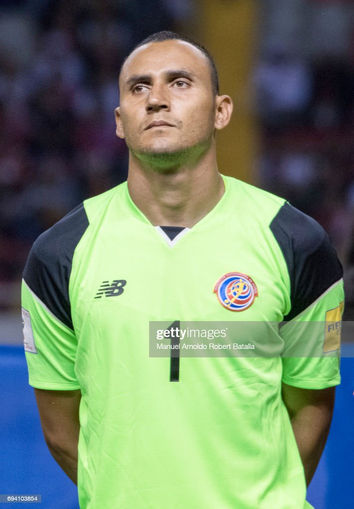 Keylor Navas of Costa Rica looks on prior to the match between Costa Rica and Panama as part of the FIFA 2018 World Cup Qualifiers at Estadio Nacional on June 08, 2017 in San Jose, Costa Rica.