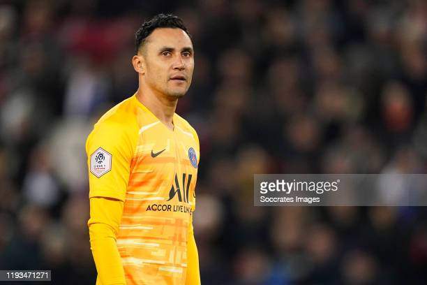Keylor Navas of Paris Saint Germain during the French League 1 match between Paris Saint Germain v AS Monaco at the Parc des Princes on January 12,...