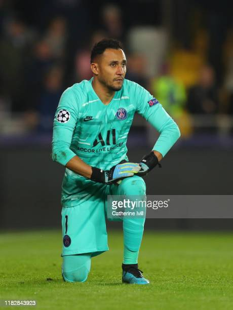 Keylor Navas of Paris Saint-Germain during the UEFA Champions League group A match between Club Brugge KV and Paris Saint-Germain at Jan Breydel...