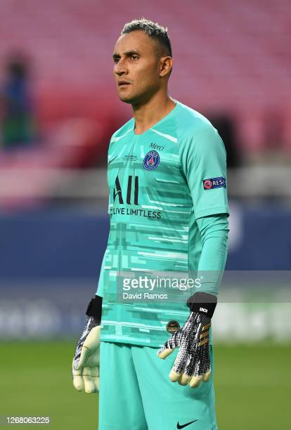 Keylor Navas of Paris Saint-Germain looks on during the UEFA Champions League Final match between Paris Saint-Germain and Bayern Munich at Estadio do...