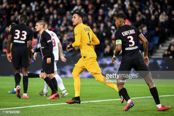 Keylor NAVAS of PSG during the Ligue 1 match between Paris and Montpellier at Parc des Princes on February 1 2020 in Paris France