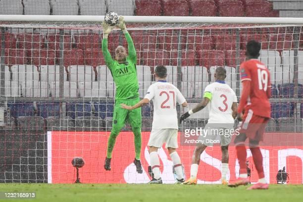 Keylor NAVAS of PSG during the UEFA Champions League, Quarter Final First Leg match between Bayern Munchen and Paris Saint Germain at Allianz Arena...